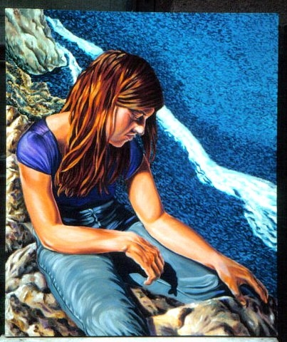Born on the Ocean oil on canvas by Nanne Barkdull