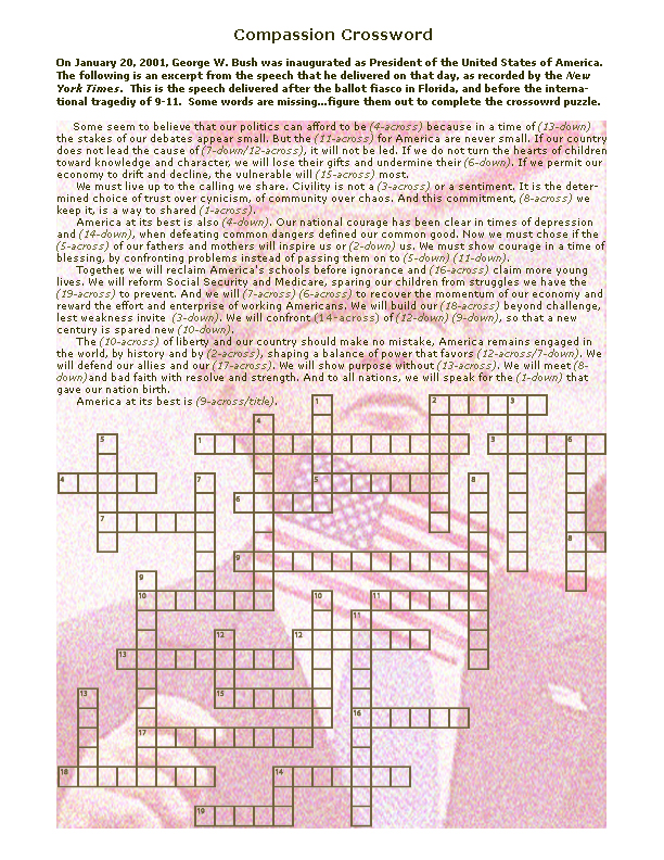 compassion crossword